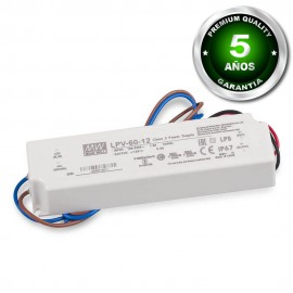 Transformador Mean Well AC220V-DC12V 60W IP67