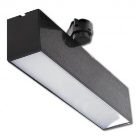Proyector LED Lineal 12W CCT carril monofásico Negro