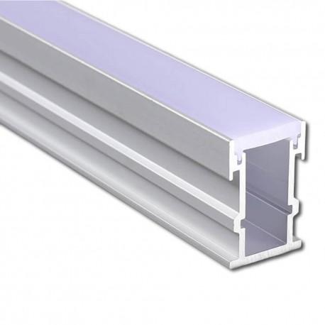 Perfil Aluminio para suelo pisable para Tira LED 2 metros