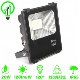 Proyector LED exterior 20W IP65 PROFESIONAL