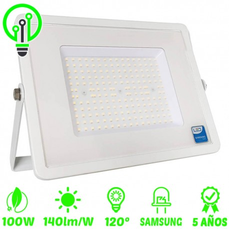Proyector LED exterior 100W IP65 ECO-SLIM 140lm/W