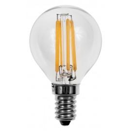 Bombilla Filamento LED E14 4W 2700K ESFÉRICA G45