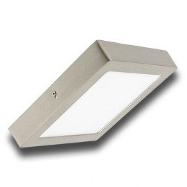 Plafón superficie LED 18W cuadrado inox