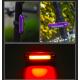 Linterna LED trasera bicicleta recargable
