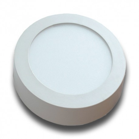Plafón superficie LED 12W circular blanco