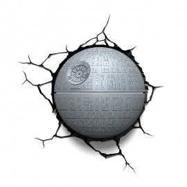 Lámpara LED 3D Death Star