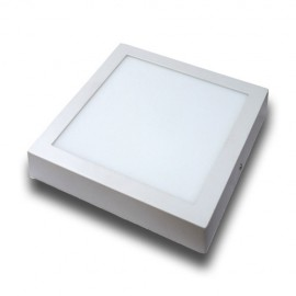 Plafón superficie LED 12W cuadrado blanco