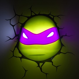 Lámpara LED 3D Donatello Tortugas Ninja