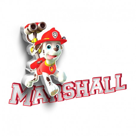 Lámpara LED 3D Mini Marshall Paw Patrol