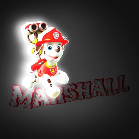 Lámpara LED 3D Mini Marshall Paw Patrol