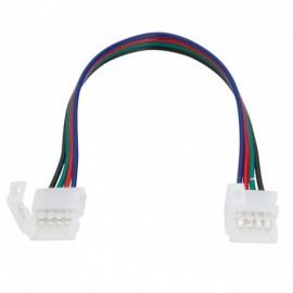 Conector doble Tira LED SMD5050 RGB DC12/24V