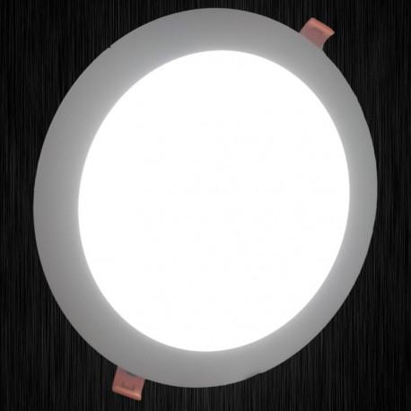 Panel LED 18W redondo blanco alto rendimiento