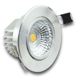 Downlight LED 7W orientable redondo inox