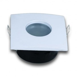 Aro Dicroica cuadrado Estanco IP65 Blanco