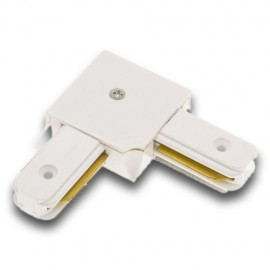 Conector Angular -L- Carril Monofásico Blanco/Negro