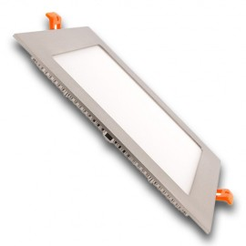 Panel LED 18W cuadrado inox/satin 4200K/6000K
