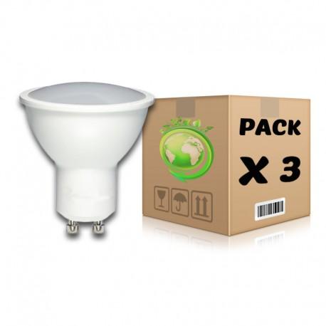 PACK Bombillas LED GU10 7W 2700K x 3 uds