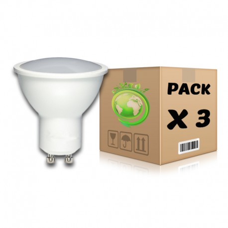 PACK Bombillas LED GU10 7W 2700K x 3 uds
