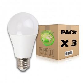 PACK Bombillas LED E27 7W 4500K A60 x 3 uds