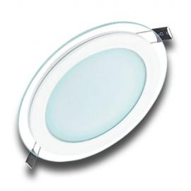 Panel LED 12W redondo cristal