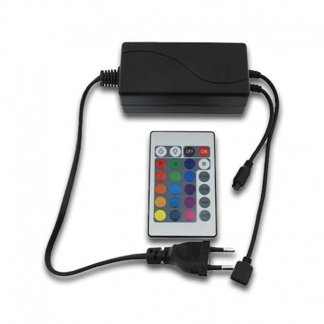 Controlador RGB + Transformador DC12V 72W
