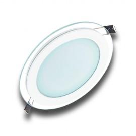 Panel LED 6W redondo cristal