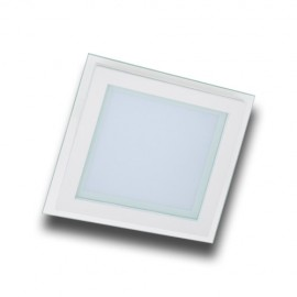 Panel LED 6W cuadrado cristal