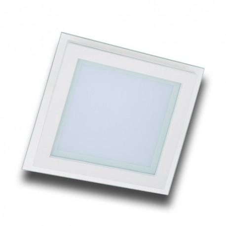 Panel LED 12W cuadrado cristal