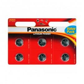 Pilas Panasonic Lithium Power CR2025 Pack 6 UDS