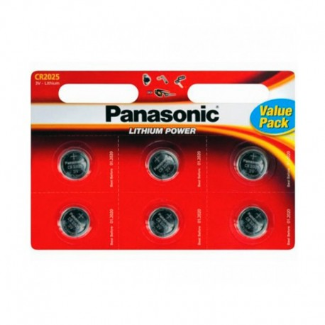 Pilas Panasonic Lithium Power CR2025 Pack 6 UDS
