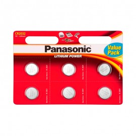 Pilas Panasonic Lithium Power CR2032 Pack 6 UDS