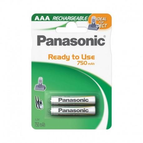 Pilas Panasonic Recargables AAA LR03 2 UDS 750 mAh