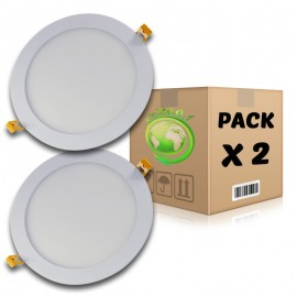 PACK Panel LED 18W redondo blanco frío 6000K