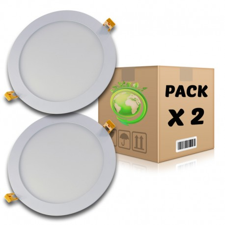 PACK Panel LED 18W redondo blanco neutro 4500K