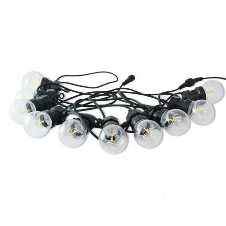 Guirnalda LED para exterior con bombillas DC24V