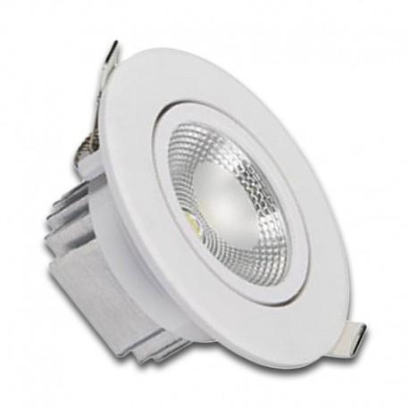 Downlight LED 6W orientable redondo blanco