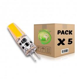 PACK Bombillas LED G4 (DC12V) 2W 3000K x 5 uds