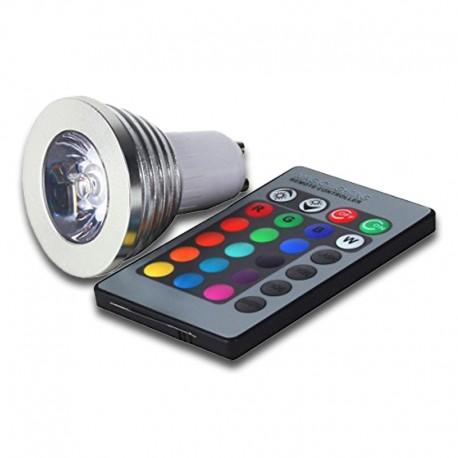 Bombilla GU10 LED 3W RGB