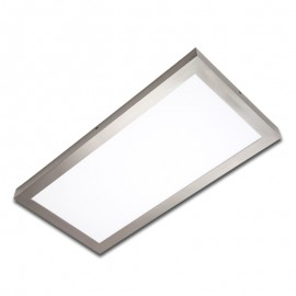 Plafón superficie LED 24W rectangular inox