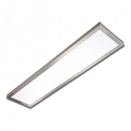 Plafón superficie LED 40W rectangular inox