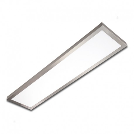 Plafón superficie LED 40W rectangular inox