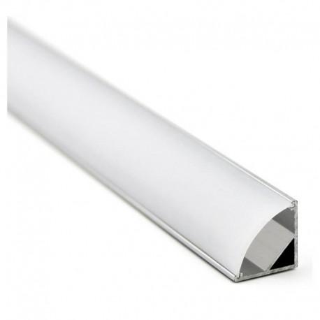 Perfil Aluminio para Tira LED -L- 1 metro