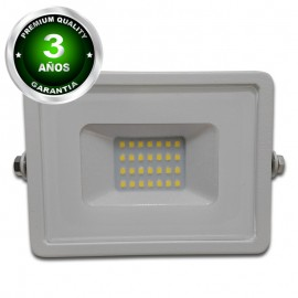 Proyector LED exterior 20W IP65 ECO-SLIM BLANCO