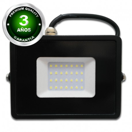 Proyector LED exterior 30W IP65 ECO-SLIM NEGRO