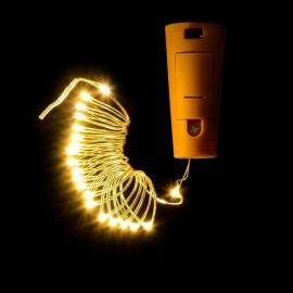 Guirnalda LED a pilas tapón botella