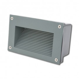 Baliza LED 3W 3000K IP65 Empotrable Rectangular Gris