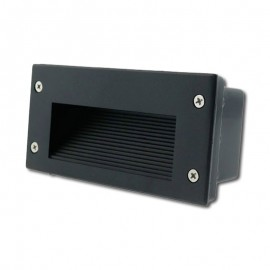 Baliza LED 2W 3000K IP54 Empotrable Rectangular