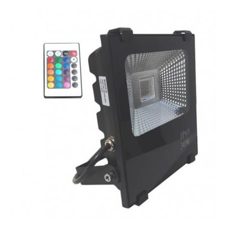 Proyector LED exterior 30W RGB IP66