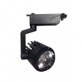 Proyector LED 30W carril monofásico 60º Negro