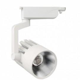 Proyector LED 30W carril monofásico 35º/70º Blanco
